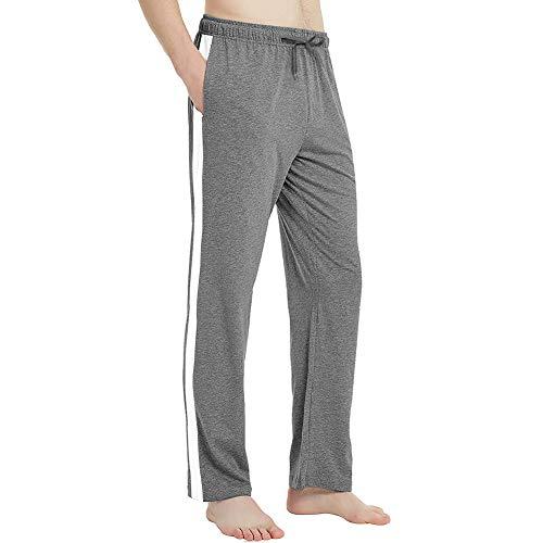 MEETWEE Pantalon de Jogging Homme, Sweatpants Open Hem Casual Survêtement Pantalons de Sport pour Sports Gym Training,Gris,XL