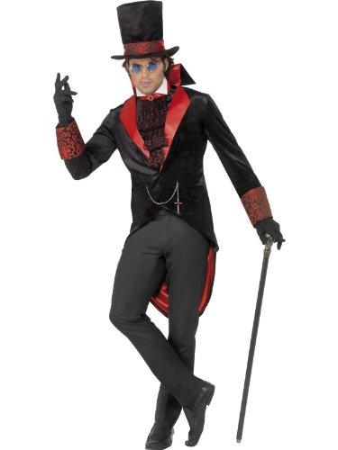 Smiffys Costume de vampire, avec veste, chapeau et foulard