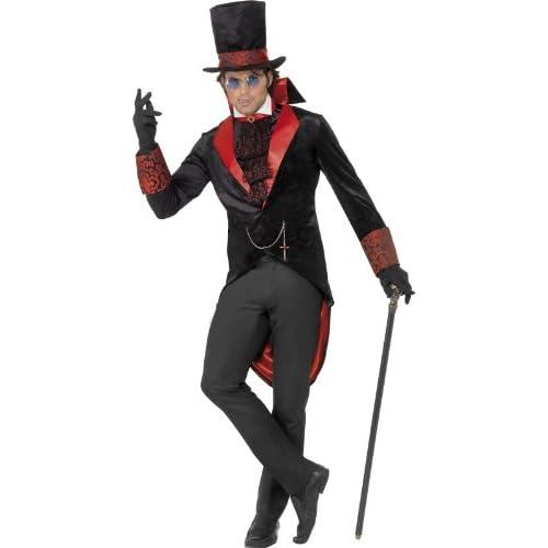Smiffys Costume de Vampiro, comprende Giacca, Cappello e Foulard da Collo