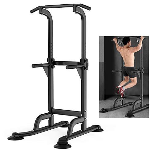 Power Tower Bar Dip Station tractions Équipement Gymnastique Entraînement Musculaire Entraînement d entraînement entraînement Abdominale Exercice pour la Maison, Noir