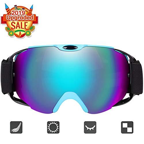 Ousprt Zweischichtige Halbrahmenbrille, Winddichte Modische Skibrille, Mehrfachschutz, Zweischichtiges Design, Geeignet Für Outdoor-Sportarten Wie Skitouren,Grün