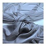 Stoff Polyester Changeant Chiffon grau transparent sehr