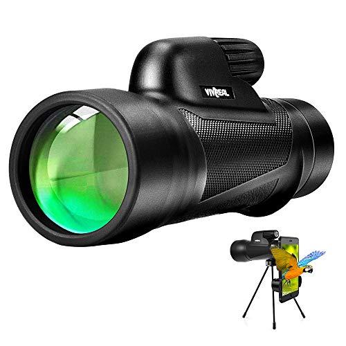 Monocular Telescope - 12X55 High Power Monocular Telescope with Smartphone Holder, BAK4 Prism & IPX7 Waterproof Monocular for Adults Kids Bird Watching Hunting Camping Hiking Traveling