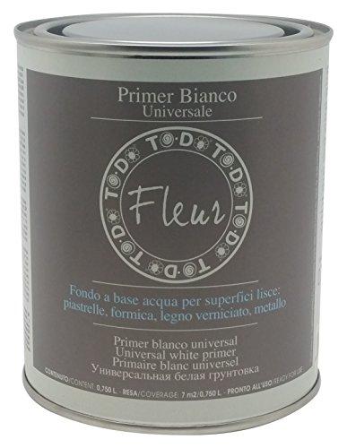 Fleur Paint 13101 - Fondo acrílico (para madera, 750 ml) color blanco