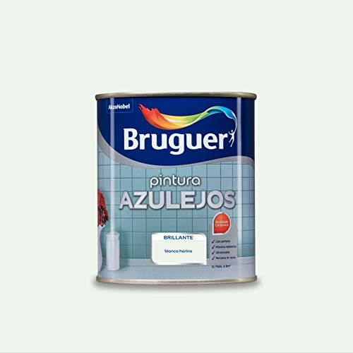 Bruguer Esmalte para Azulejos Brillante Blanco Harina 750 ml
