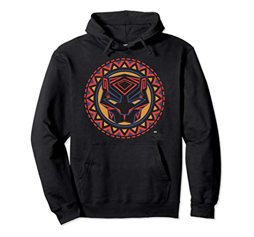 Marvel Black Panther Avengers Geometric Pattern Mask Hoodie