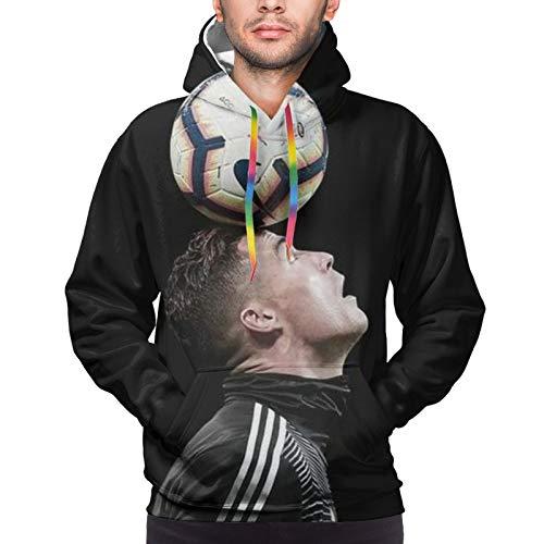 Tukiv Cristiano Ro-Naldo - Sudadera con capucha para hombre, impresión digital 3D, adecuada para hombres