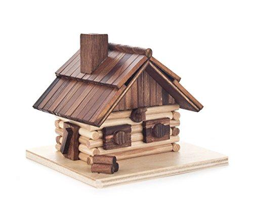 Dregeno Räucherhaus, Holz, Natur, 11 cm