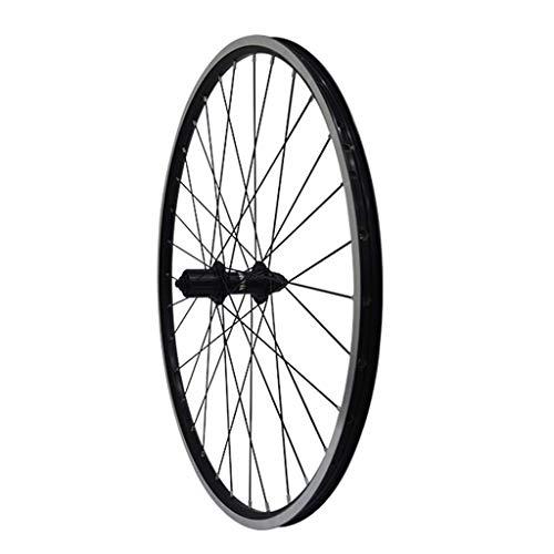 TYXTYX Juego de Ruedas de Bicicleta Rueda de Bicicleta Negra 26'MTB Llantas de aleación de Doble Pared Llantas de 1.75-2.1' V-Brake 7-11 velocidades Buje Sellado Rueda de Bicicleta 32H de liberaci