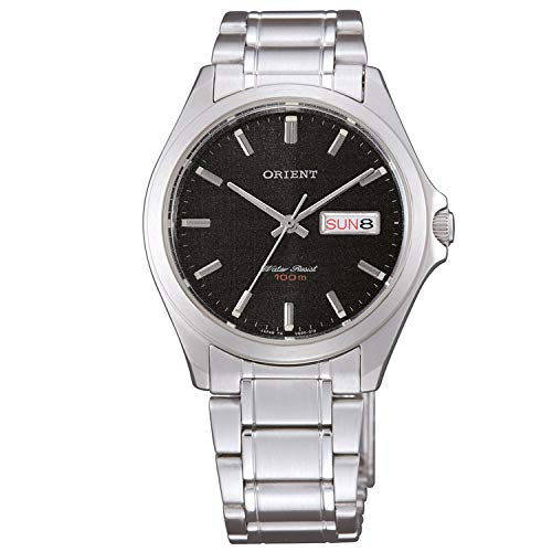 Orient Reloj Analógico para Unisex Adultos de Cuarzo con Correa en Acero Inoxidable FUG0Q004B6