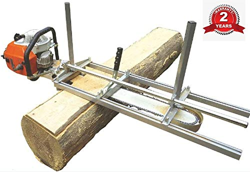 TTF Chainsaw Mill Attachment Chainsaw Milling Planking Milling Bar Planking Cutting Guide Bar Chainsaw Mill Guide Sawmill For Chainsaw Portable Chain Sawmill Attachment (14'-24')