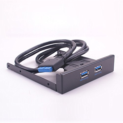 SSSabsir Desktop PC Front Floppy Drive 19/20 Pin to USB 3.0 Front Panel Extender Panel