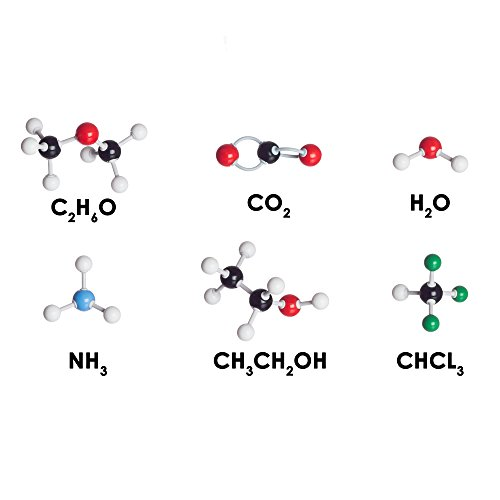 Chemistry Model Kit - Molecular Model Kit for General and Organic Chemistry - Student Molecular Modeling Kit (123 Pieces)
