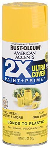 Rust-Oleum 327880 American Accents Spray Paint, Gloss Sun Yellow,12 oz