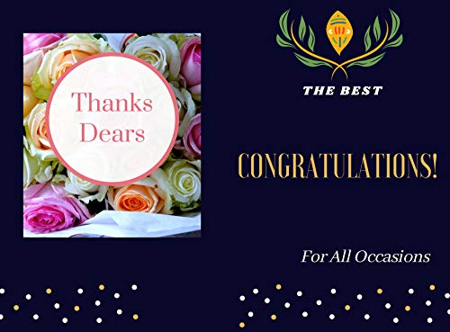 The Best Congratulations! For All Occasions Thanks Dears.: Notebook Blank Lined Journal, (6X9)Inches , 120 pages , white papers . (English Edition)