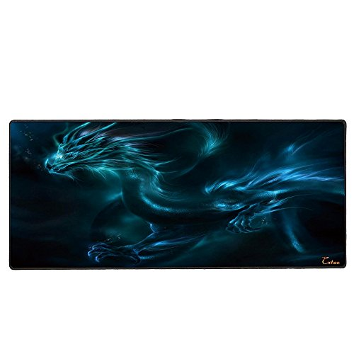 Cmhoo XXL Professional Large Mouse Pad & Computer Game Mouse Mat (35.4x15.7x0.1IN, Dragon)