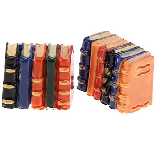 KESOTO 2pcs Dollhouse Miniature Modèle de Livres Résine 1/12 Meubles de Maison de Poupées Enfants Rôle Décor Jouet de Simulation