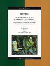 Works for Voice and Chamber Orchestra: The Masterworks Library (Boosey & Hawkes Masterworks Library)