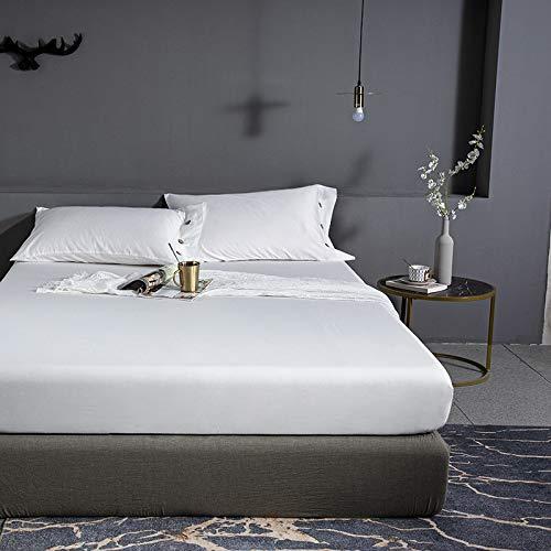 haiba Sábana plana de microfibra – Luxurious No-Iron Bed Sheet is transpirable y te mantiene fresco y cómodo – Esta cubierta superior hipoalergénica es Oh-So-Soft & Silky 150 cm x 200 cm