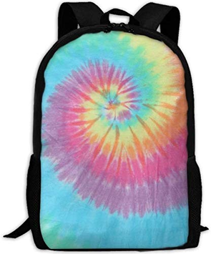 School Bags,Backpack, Sports, Camping Adult Carry Everyday Bookbag Travel Backpacks Laptop Computer Bag Pastel Spiral Tie Dye Unisex Durable Casual Daypack for School Business