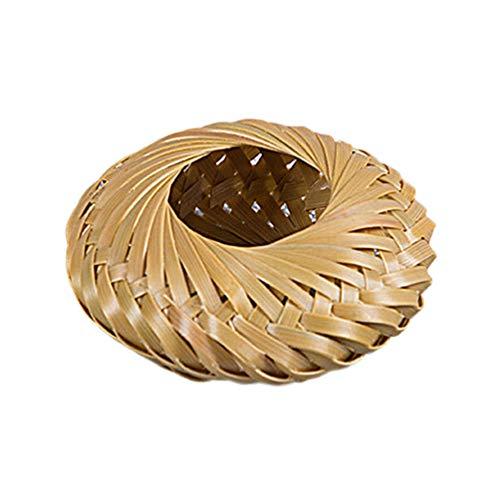 UPKOCH Posavasos de Tetera de Bambú Tetera Trivets Soporte de Tapa de Tetera Mini Cesta de Mimbre Suministros de Té de Kung Fu Chino (Estilo Corto)