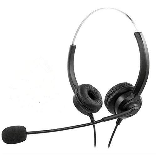 Kaper Go Auriculares USB PC Headset, Cancelación De Ruido Estéreo del Juego De Auriculares con Micrófono For Call Center PC, Ordenador Portátil, Tableta, TV