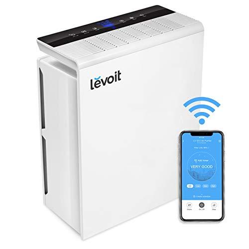 Levoit Luftreiniger Wlan Air Purifier mit APP Steuerung, HEPA-Kombifilter&Aktivkohlefilter, CADR 230m³/h, Automodus Schlafmodus Timer, perfekt für Allergiker Raucher, auf 2.4 GHz Netzwerk LV-PUR131S