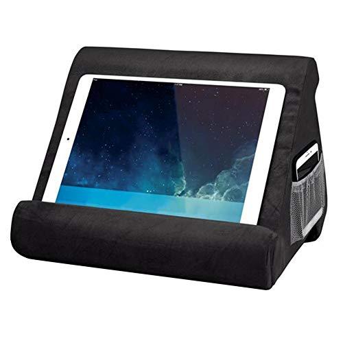 Euopat Pad Pillow, Pad Pillow Stand, Book Rest, Tablet Sofa, Supporto per Laptop, Mini Tablet Supporto per Computer per iPad Air, Tablet, E-Readers, Smartphone, per Aereo… (Black)