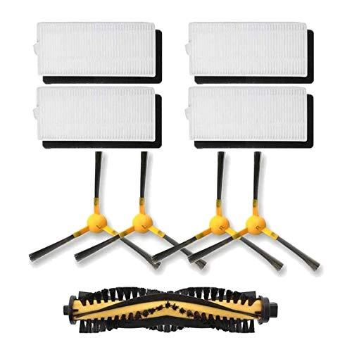 bobotron Pack de 9 filtros laterales de repuesto para robot Neatsvor X500 Tesvor X500