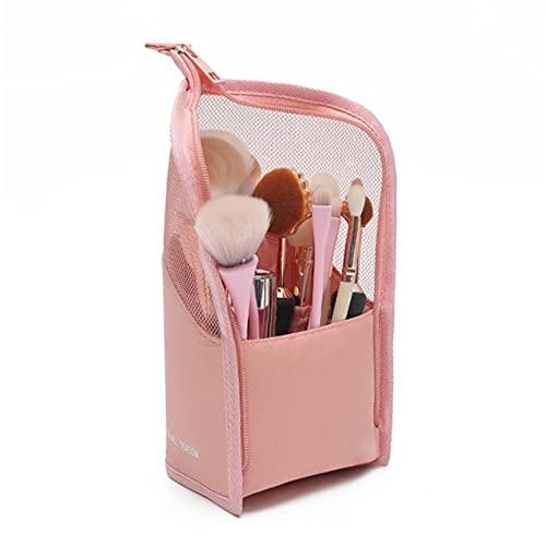 ZYYXB Bolsa de maquillaje para mujer, bolsa organizadora de cosméticos, portátil, bolsa de almacenamiento de baño, bolsa de ducha grande, color rosa