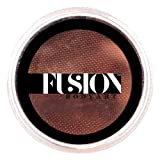 Fusion Body Art Pro Face Paint   Prime Henna Brown (32gm), Professional Quality Water Activated Face and Body Paint Supplies Single Makeup Cake Hypoallergenic, Non-Toxic, Safe, Vegan