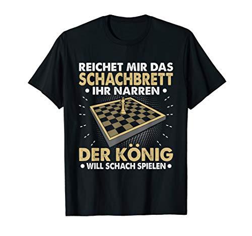 Herren Reichet Mir Schachbrett König Schach Spielen Schachspieler T-Shirt