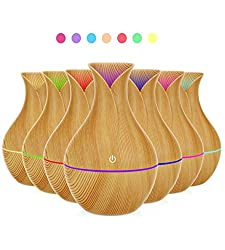 Wood Grain Air Humidifier Night Light Essential Oil Diffuser - $7.98 (slow ship)