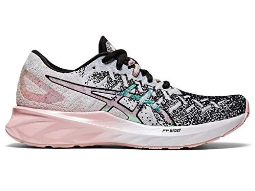 ASICS Women's Dynablast Running Shoes, 11M, White/Ginger Peach