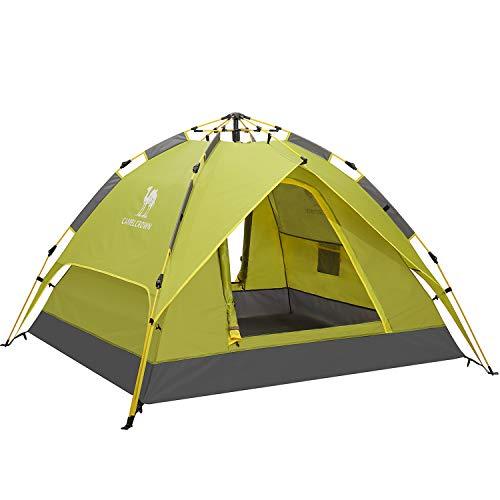 CAMEL CROWN Camping Zelte 2–3 Personen Rucksack faltbar Wasserdicht Automatik Pop Up Einfache schnelle Einrichtung Sonntagsunterstand für Strand Wandern Reisen, grün