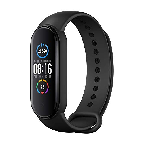 "Mi Band 5 Smart Band, Smart Watch con Activity Tracker Display AMOLED a Colori da 1,1"" Bluetooth 5.0 Cardiofrequenzimetro Bracciale Intelligente Impermeabile"