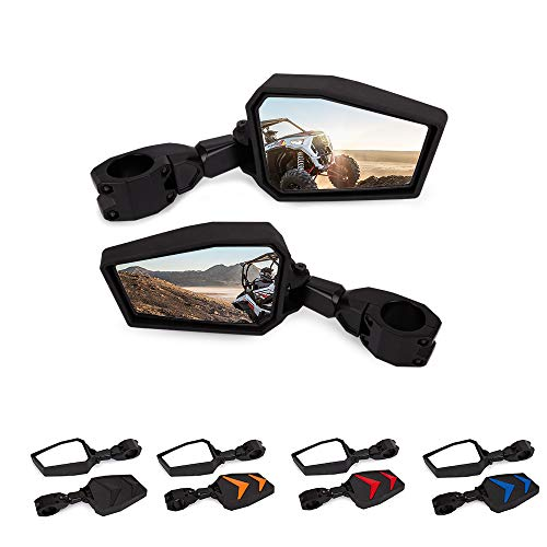 """UTV Offroad Pair Side Mirrors Rear View Mirrors 1.75"""" Compatible with Polaris RZR Yamaha Rhinos (Model A)"""