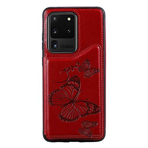 Bear Village - Carcasa para Samsung Galaxy S20 Ultra, antiarañazos, funda de piel sintética, compatible con Samsung Galaxy S20 Ultra, color rojo