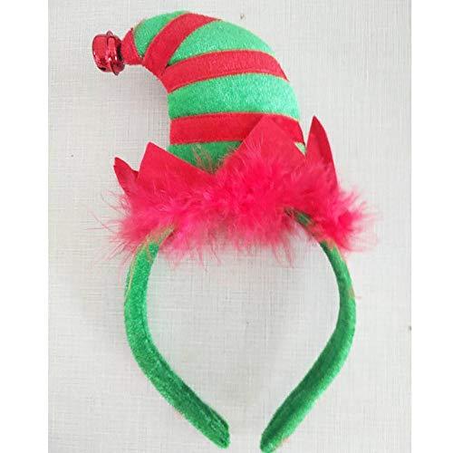 GKKXUE Mini Elf Stirnband Weihnachtsstirnband Elben Party-Hüte Weihnachten Stirnband for Weihnachtsfeiertags-Party (Zwei) (Color : A)