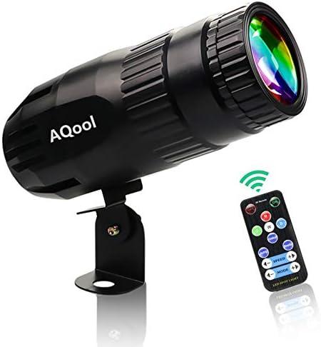Pinspot Light AQool Mini 15W Mirror Ball Spotlight Super Bright RGBW LED Beam Pinspot Lights product image