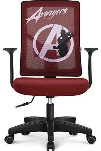 Marvel Avengers Office Chair Computer Desk Chair Gaming - Ergonomic High Chair Cushion Lumbar Support Wheels Comfortable Mesh Racing Seat Adjustable Swivel Rolling Home Executive