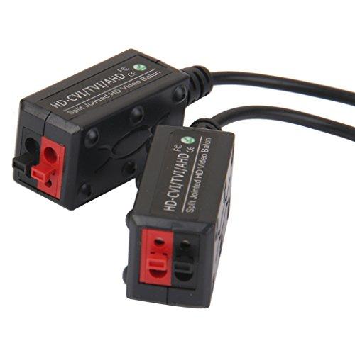Fityle 2 Pcs Balun Video Pasivo Protección Incorporada Supresión Transitoria Conectador de Cámara
