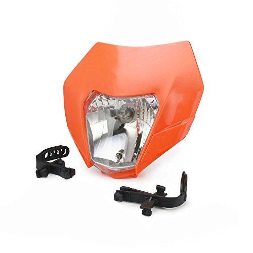 Universal scheinwerfer Kopf Lampe Licht Verkleidung Street Fighter Maske Tagfahrlicht Blinker für EXC250 SX250 SXF250 EXC450 SX350 SXF450 EXC525 640LC4 Orange