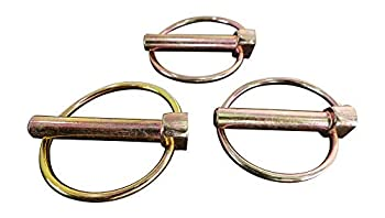 """Linchpin 3-Point Hitch Pins Secure Axles Replace R-Clips Quick-Release by Tech Team  5/16  Dia x 1 1/2"""" Long"""
