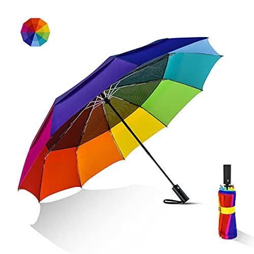 Lejorain Large Golf Umbrella Windproof - Oversized 54inch Double Layer...