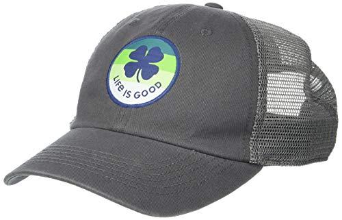 Life is Good Front Artwork Soft Mesh Back Cap, Shamrock Slate Gray, One Size