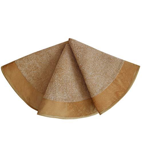 SORRENTO Deluxe Christmas Velvet Boucle Tree Skirt-Gold/10-15 DAYS DELIVERY (48'(121.9CM))