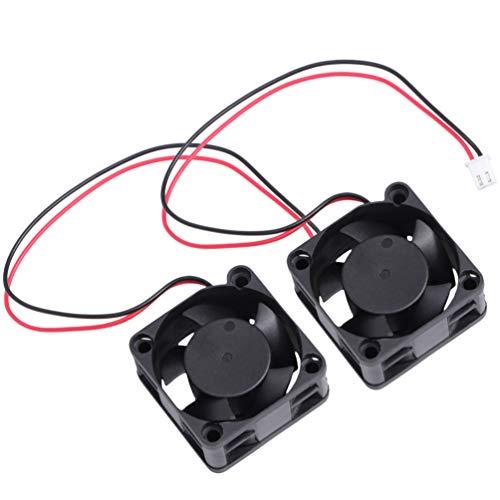 Hemobllo 2 Stuks 12V Koelventilator Voor 3D-Printer - Stille Ventilator Stille 12V Blazen Radiaal Hydraulisch Lager Koeler Voorventilator Koelventilator Radiator Voor 3D-Printer