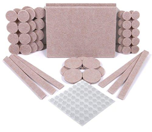 Meubilair Vilt Pads & Meubilair Pads, 124 Pack - 60 Vilt Pads & 64 Clear Rubber Voeten Bumpons. Stoel been vloerbeschermers met sterke hechting, 5 mm dikke vloerbeschermer pads voor verhoogde duurzaamheid