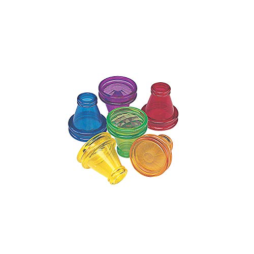 Fun Express Transparent Prism Kaleidoscope Toys (Bulk Set of 12) Party Favors